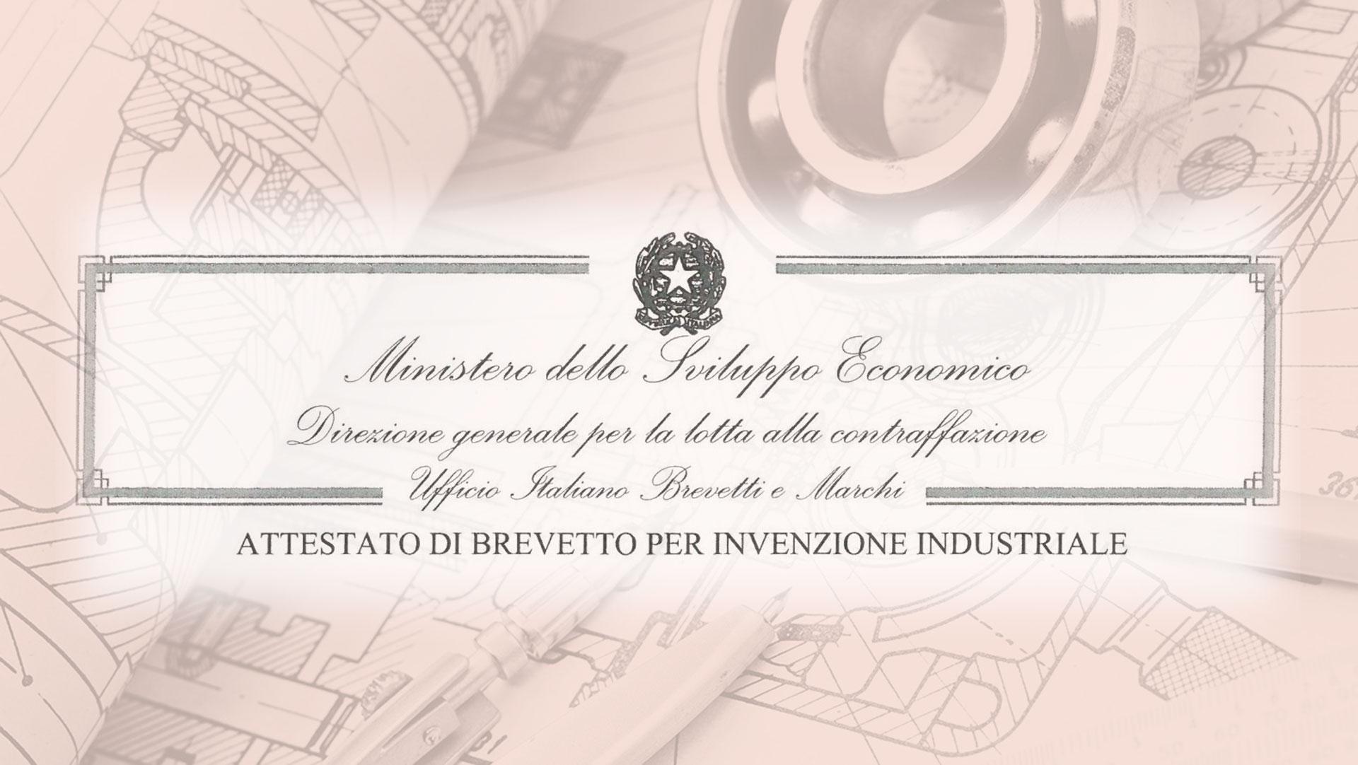 AURUM Srl brevetto industriale n. 0001397602
