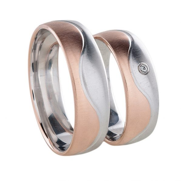 AURUM Multicoloured Wedding Rings WDWE239460DM