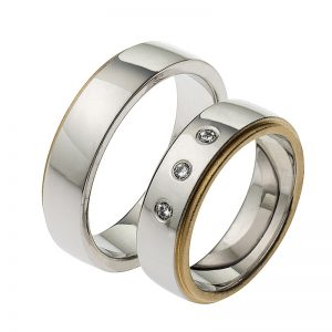 AURUM Multicolored Wedding Rings WEWD433260AV