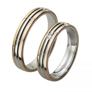 AURUM Multicolored Wedding Rings WEWD416442ZA