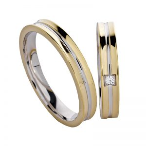 AURUM Multicolored Wedding Rings WEWD50135IA