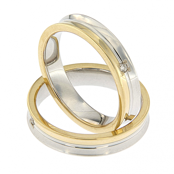 AURUM Multicoloured Wedding Rings WD50140AA