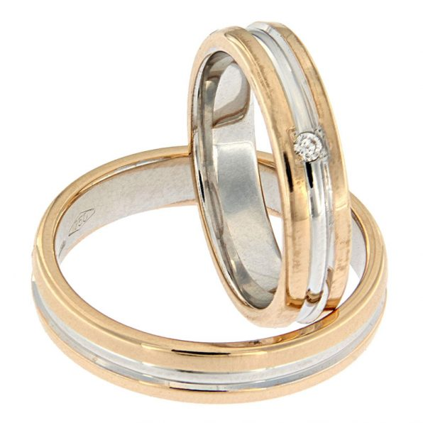 AURUM Multicoloured Wedding Rings WEWD 418840OA