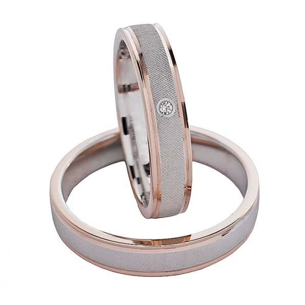 AURUM Multicoloured Wedding Rings WDWE229340OG