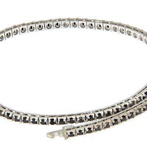 TDP18-001N-CH25 AURUM Srl Bracciale Pyramidal tennis bracelet black diamonds