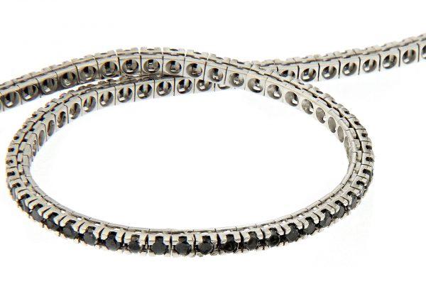 TM22-0025 AURUM Srl Bracciale Tennis classico diamanti neri