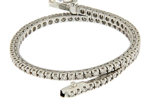 TM25-004 AURUM Srl Classic tennis bracelet natural diamonds